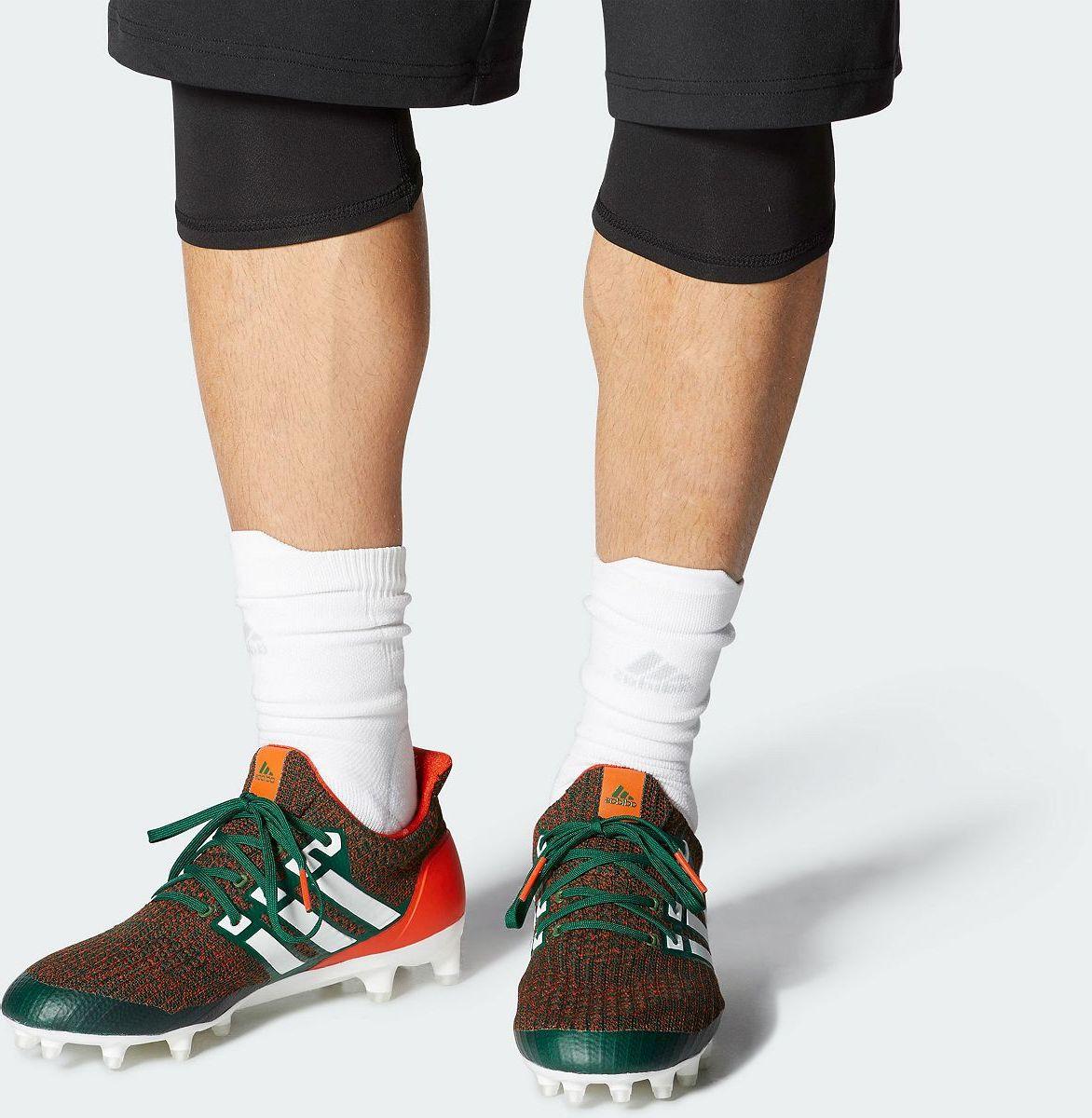 adidas Men's Ultraboost Miami Hurricanes Football Cleats