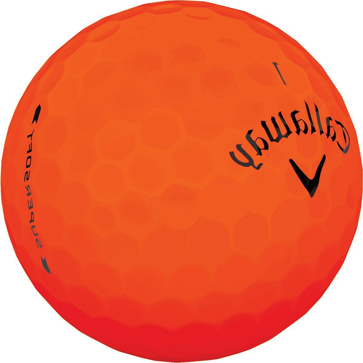 Callaway 2019 Supersoft Matte Orange Golf Balls