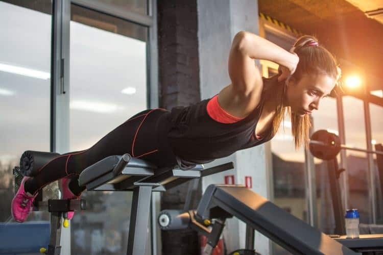 Bodyweight hyperextensions — to strengthen the lower back